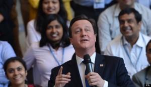 ब्रिटीश प्रधानमन्त्री भारतीयहरूको स्वागतार्थी