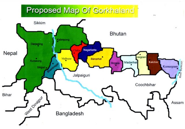 gorkhaland-map
