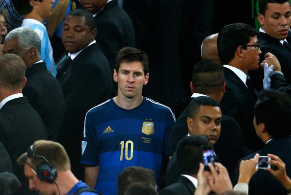 Golden ball to Messi