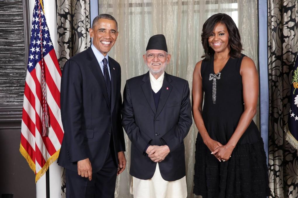 राष्ट्रपति बाराक ओबामा र प्रधानमन्त्री शुशील कोइरालाबीच भेट