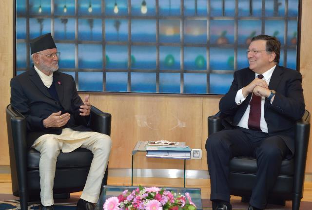 EC-President meets Koirala