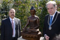 Handed over the statue